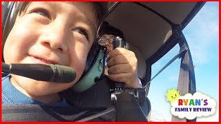 Kids fun Helicopter ride and arcade games with Ryan