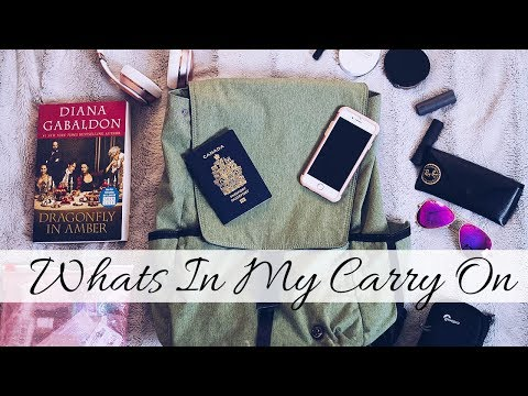 WHAT S IN My CARRY ON BAG 🎒 Flight Essentials
