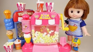 Baby Doll Pop corn maker toy Pororo and PlayDoh
