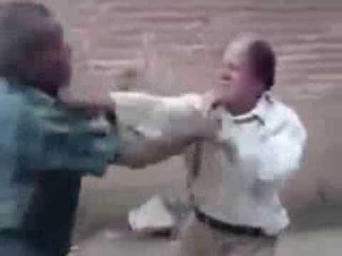 peleas Viejos borrachos peleando