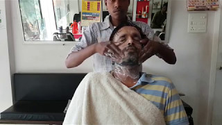 Rural Barber pampering face massage (Relaxing)
