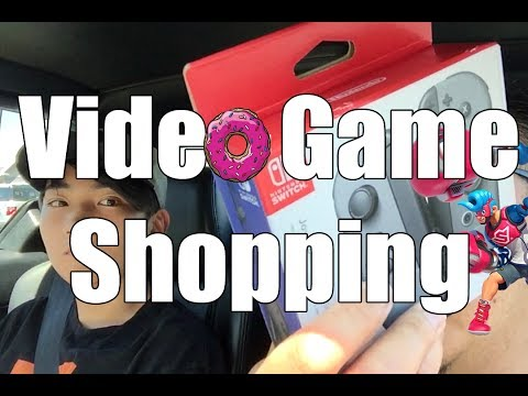 Video Game Shopping with My BIG Son!!! - Joy-Con and Donuts