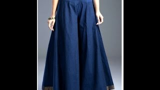 How to stitch Circular Palazzo/ Divided Skirt/ Wide Leg Trousers for Adults