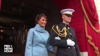 Melania Trump and Karen Pence enter Inauguration Day 2017 ceremony