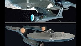 Original Star Trek Enterprise Vs Star Trek 2009 Enterprise (model comparison)