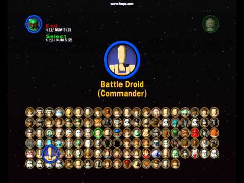 lego star wars 2 all characters and characters ep1 3