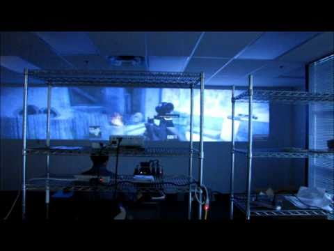 GTX 590 Triple Projector GeForce 3D Vision Surround Gaming Setup Linus Tech Tips