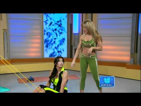 Claudia Molina and Ceci Galliano workout on ¡Despierta América 2012 06 19 HD