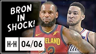 Ben Simmons vs LeBron James AMAZING Triple-Doubles Duel Highlights (2018.04.06) - KING vs PRINCE!