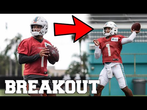 TUA TAGOVAILOA BREAKS OUT IN NFL TRAINING CAMP MIAMI DOLPHINS QB COMPETITION WITH JOSH ROSEN