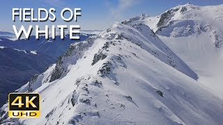 4K Fields Of White - Snowy Mountains Nature Video & Relaxing Ambient Music - Ultra HD - 2160p
