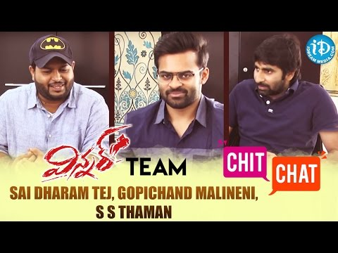 Winner Movie Team Sai Dharam Tej, Gopichand Malineni, S S Thaman Special Interview || #Winner