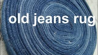 USE old denim /jeans to maje this Rug/carpet/coaster/old jeans craft