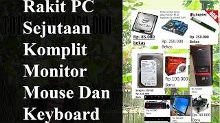 Rakit Pc 1 Jutaan / Sejutaan Intel Komplit Dengan Monitor Keyboard Dan Mouse