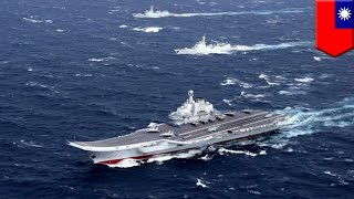 China-Taiwan relations: China aircraft carrier enters Taiwan Strait, Taiwan deploys jets - TomoNews
