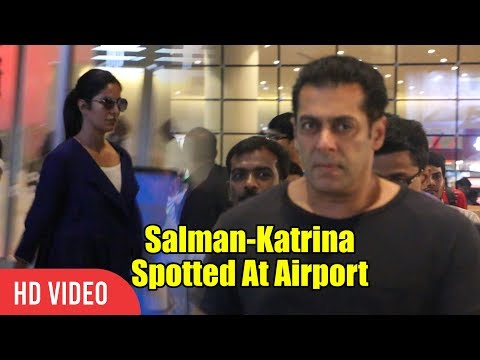 Salman Khan And Katrina Kaif Spotted At Mumbai Airport   Viralbollywood