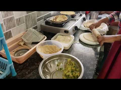 Mamta Sachdeva Making Aloo Paratha's in Ludhiana Punjab | Cabin Crew / Airhostess |