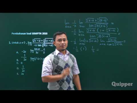 Limit Trigonometri - Persiapan SBMPTN Matematika IPA 2017