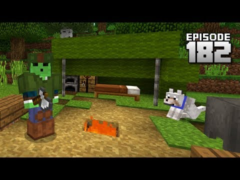 Let's Play Minecraft PE - Ep.182 : Realistic Camping FAIL!