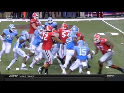2016 Georgia vs North Carolina, Georgia Condensed Offense