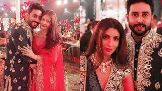 Aishwarya Rai Bachchan and Abhishek Bachchan look too sweet in a family function today😍😍😍😍