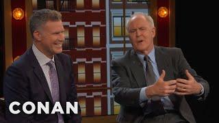 Will Ferrell & John Lithgow's Off-Camera Kisses  - CONAN on TBS