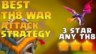 Download Town Hall 8 War Attack Strategy 2016 Dragon - 3 Star Any TH8 - [Th8] 3 Star Attack Strategy 3Gp Mp4