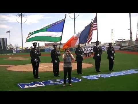 12 Year Old Singing Sensation - National Anthem Brooklyn NY