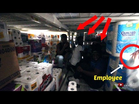 TRAPPED INSIDE A TOILET PAPER FORT IN WALMART!!!