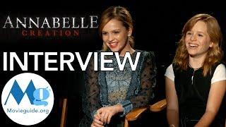 ANNABELLE: CREATION Interview Talitha Bateman &  Lulu Wilson