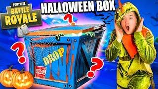 UNBOXING FORTNITE HALLOWEEN MYSTERY BOX!! 📦❓Fortnite SKINS, Toys, PICKAXE & More!