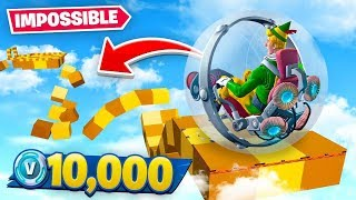 *IMPOSSIBLE* Fortnite Hamster Ball Parkour Race!
