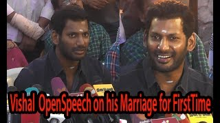 VISHAL Open Speech About His Marriage for First Time | Nadigar Sangam Building - BB