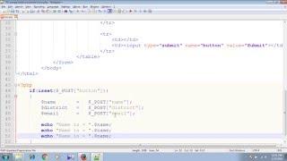 php mysql bangla tutorial print data or message using form