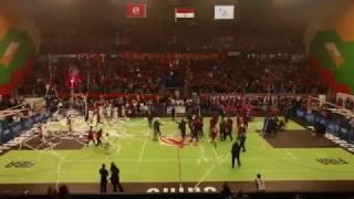 لحظة تحقيق النادي الاهلى الفوز ببطولة افريقيا لكرة السلة 2016