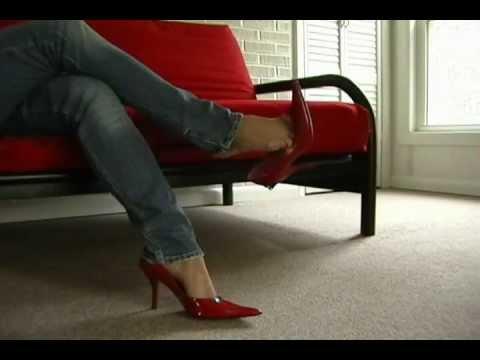 high heels jeans