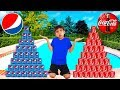 Download Video Download Coke vs Pepsi Pretend Play! Funny Boy Goes Shopping & Play Stacking Game 3GP MP4 FLV