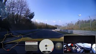 7 minutes 12.7 seconds at the Nürburgring - Onboard footage of the 911 GT3