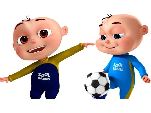 Five Little Babies Playing Soccer FootBall Videogyan 3D Rhymes Cartoon Animation For Kids