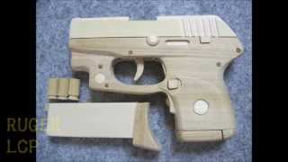 BLOW⇔BACK RUBBER BAND GUN 05.0 RUGER LCP blowback & ejection model