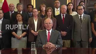 Peru: President Kuczynski resigns amid new bribery scandal