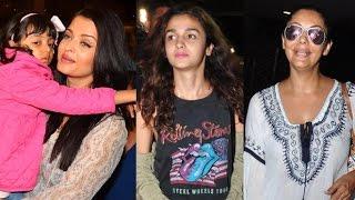 Aishwarya Rai Bachan, Alia Bhatt & Gauri Khan | Airport Spotting 17 May 2016
