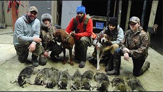 Greg Hackney Hunting Coons with Dogs