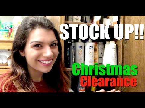 2018 Christmas Clearance Shopping Recon SAVE BIG MONEY Personal Care Stockpile