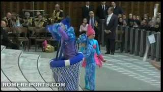 Circus Act performed for the Pope