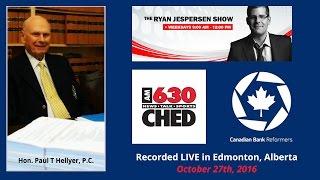 Paul Hellyer - LIVE on Edmonton Radio