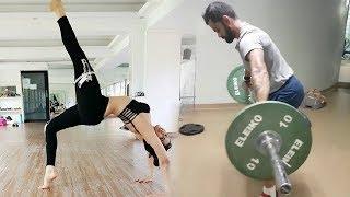 Anushka Sharma Workout With Virat Kohli In Gym