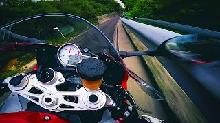 Breaking the mirror on the guardrail. BMW S1000RR