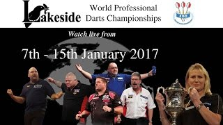 LAKESIDE WORLD DARTS CHAMPIONSHIPS 2017 - Tuesday 10th Jan Session 1