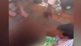 20 Boys Tear Off Girl's Clothes in Public ; No One Come to Help - Caught on Camera